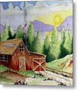 Wilderness Cabin Metal Print