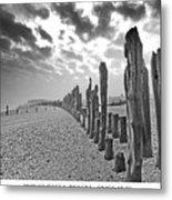 Winchelsea Beach Sussex Metal Print