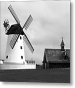 Windmill At Lytham St. Annes - England Metal Print