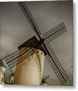 Windmills At Campo De Criptana Metal Print
