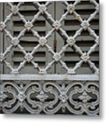 Window Grill In Toulouse Metal Print