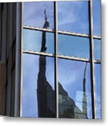 Window Reflections Metal Print
