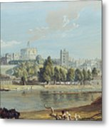 Windsor Castle From The Eton Shore Metal Print