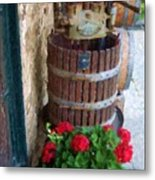 Wine And Geraniums Metal Print