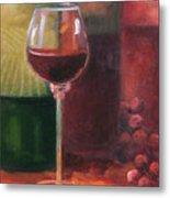 Wine Glass Metal Print