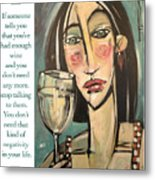 Wine Negativity Poster Metal Print
