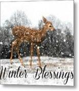Winter Blessings Metal Print