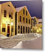 Winter In Historic Downtown New Bedford Metal Print
