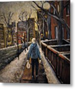 Winter In The City Metal Print