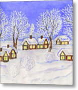Winter Landscape, Painting Metal Print