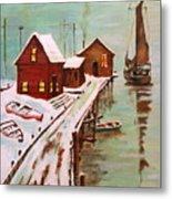Winter Sail Metal Print