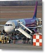 Wizz Air Jet And Fire Brigade   Metal Print
