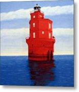 Wolf Trap Lighthouse Metal Print