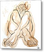 Woman 14  From When De Body Talk Collection Metal Print