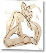 Woman 15  From When De Body Talk Collection Metal Print