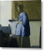 Woman Reading A Letter Metal Print