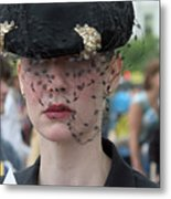 Woman With Veil Metal Print