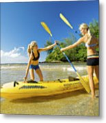 Women Kayakers Metal Print by Kicka Witte - Printscapes