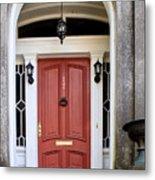 Wooden Door Savannah Metal Print