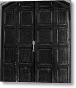Wooden Door Metal Print