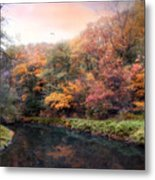 Woodland River Metal Print