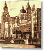 World Famous Three Graces Metal Print