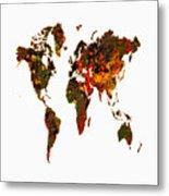 World Map 2b Metal Print
