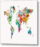 World Map 3b Metal Print