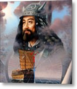 World Unification Blue Or Sea Captain Metal Print