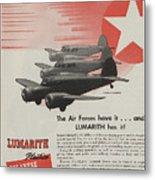 World War II Advertisement Metal Print