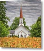 Worshiping Lilies 1 Metal Print
