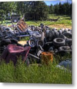 Wrecking Yard Study 9 Metal Print
