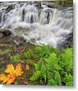Yacolt Falls In Autumn Metal Print