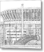Yankee Stadium Metal Print by Juliana Dube
