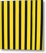 Yellow And Black Stripes Metal Print