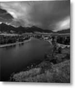 Yellowstone River Camp Metal Print