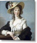 Yolande-martine-gabrielle De Polastron Duchesse De Polignac Lisabeth Louise Vige Le Brun Metal Print