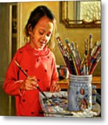 Young Artist Metal Print