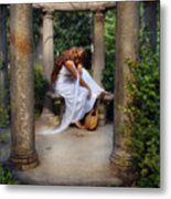 Young Woman As A Classical Woman Of Ancient Egypt Rome Or Greece Metal Print
