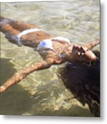 Young Woman In The Water Metal Print by Brandon Tabiolo - Printscapes