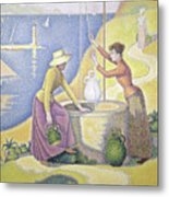 Young Women Of Provence At The Well, 1892 Metal Print