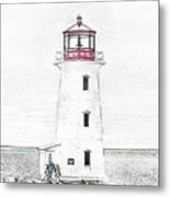 You're My Beacon Peggy's Cove Lighthouse Metal Print