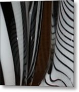 Zebra Glass Metal Print