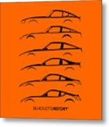 Zee Car Silhouettehistory Metal Print