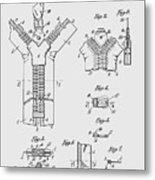 Zipper Patent Art  Metal Print