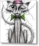 Zippy Cat Metal Print
