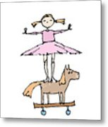 Zoozie And The Amazing Horsie Horse Metal Print