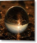 10-17-16--8590 The Moon, Don't Drop The Crystal Ball, Crystal Ball Photography Metal Print