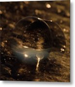 10-17-16--8634 The Moon, Don't Drop The Crystal Ball, Crystal Ball Photography Metal Print