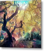 10 Abstract Japanese Maple Tree Metal Print